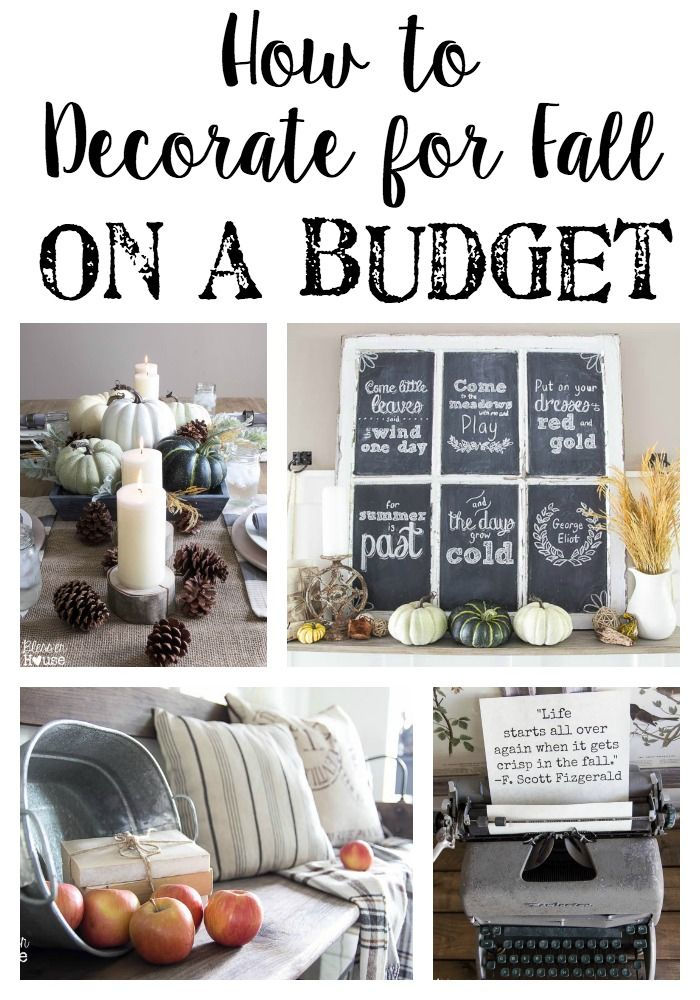 Decorating For Fall On A Budget