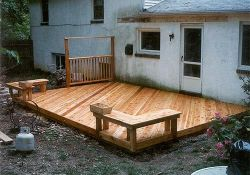 Ground Level Backyard Decks