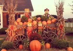 Fall Wagon Decorating Ideas