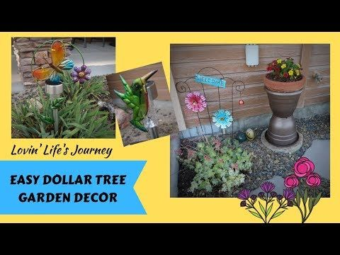 Dollar Tree Garden Decor