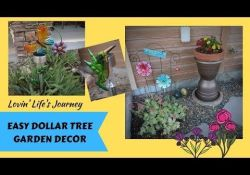 Dollar Tree Garden Decor