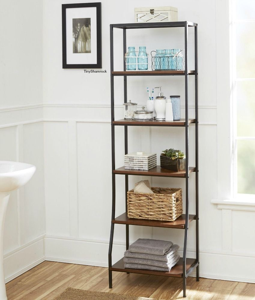 Bathroom Floor Shelf