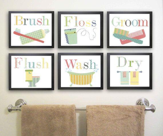 Kids Bathroom Wall Decor