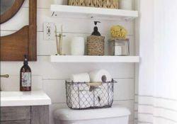 White Floating Shelves Bathroom