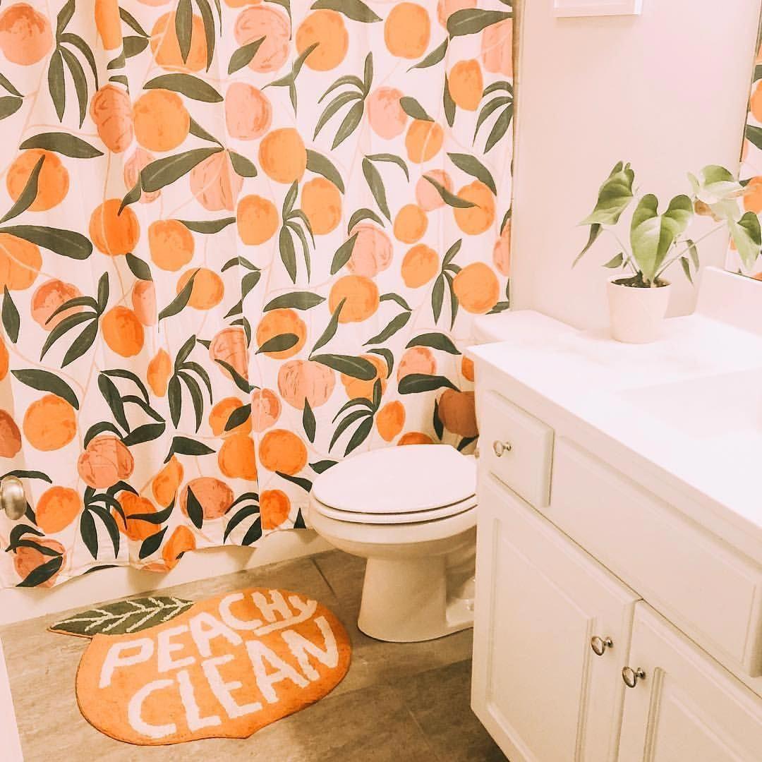 Peach Bathroom Decor