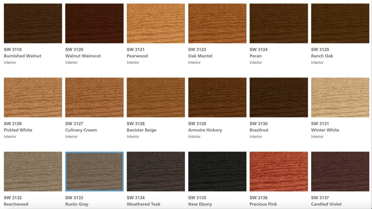 Sherwin Williams Exterior Stain Colors
