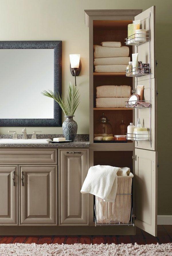 Bathroom Linen Tower