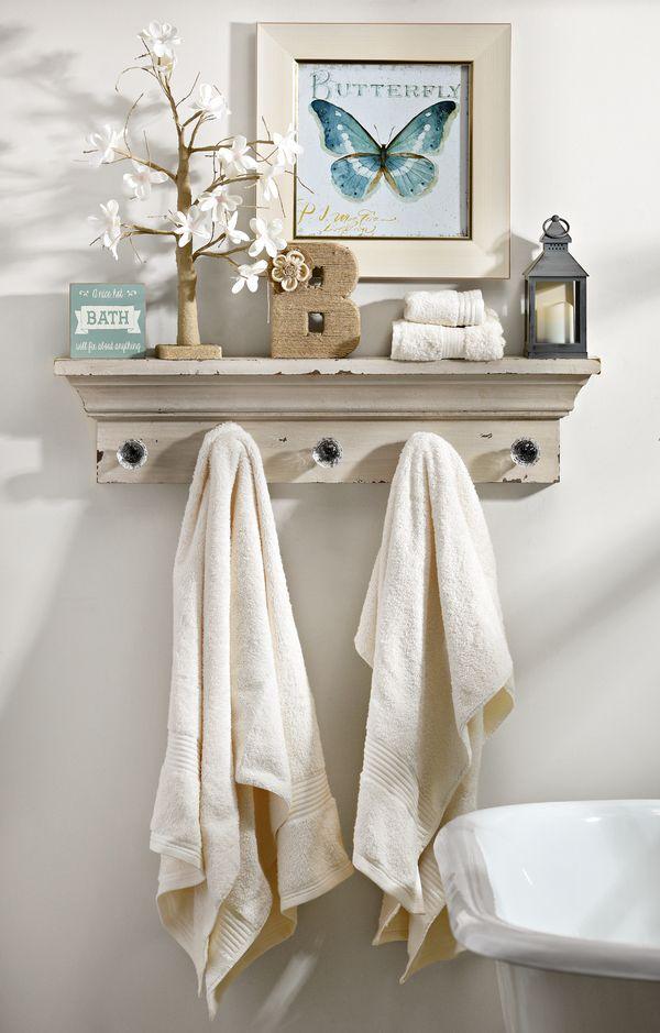 Bathroom Shelf With Hooks