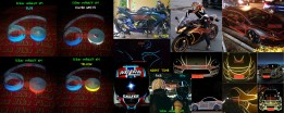 Stiker REFLEKTIF 3M. Mengkilat kena sinar saat siang atau apalagi saat malam hari. Tambahkan visibilitas pd kendaraan Anda/helm/velg/sepeda dsb. Tersedia dlm 4 pilihan warna: RED-BLUE-WHITE-YELLOW dg ukuran lebar 1,5 cm (bentuk list garis). Dijual per 2 meter Rp40.000 atau per 5 meter Rp 80.000.