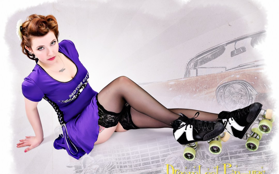 A beautiful roller derby pin-up…