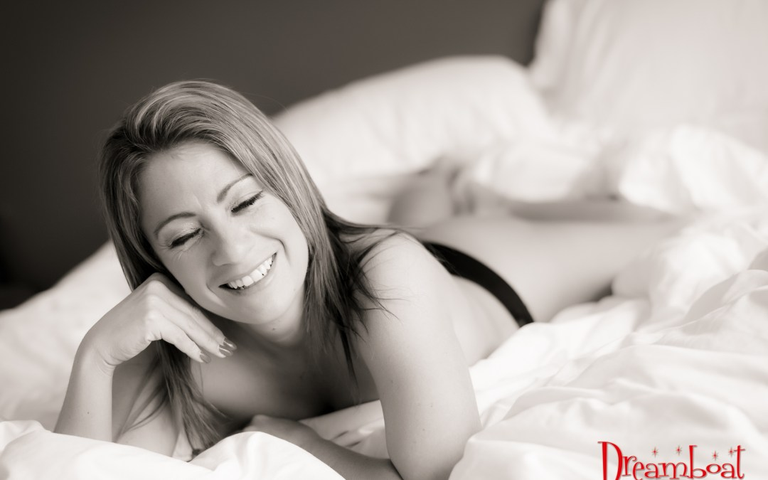 White sheet boudoir session with Ms A