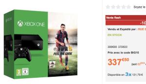 Xbox one + Fifa15 moins cher chez rueducommerce que sur amazon
