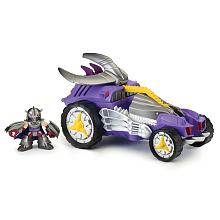Véhicule de luxe + Figurine 6 cm - Tortues Ninja - Shredder Véhicule avec son et un personnage de 6 cm.Utilise la fonction spéciale du véhicule pour revivre les aventures de tes héros.Chaque véhicule a une fonction spéciale...Véhicule adapté pour les jeunes enfants.