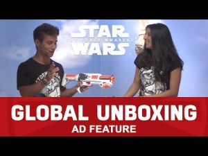 Star Wars NERF First Order Stormtrooper Blaster – Star Wars: The Force Awakens Global Toy Unboxing pistolet stormtrooper – YouTube