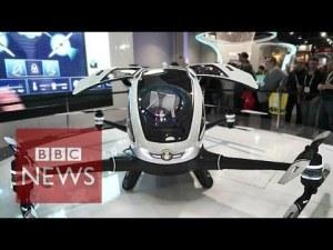 CES 2016: Ehang 184 Un drone pour transporter des personnes sans pilote – YouTube