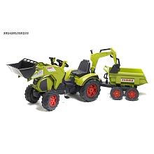 toys' r us Avigo - Tractopelle Claas + excavatrice + remorque Dumper