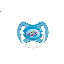 toys' r us 2 sucettes MAM anatomiques 2ème âge avec anneau bleues