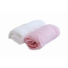 toys' r us 2 draps housse 70 x 140 cm blanc/rose