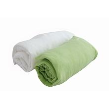 toys' r us 2 draps housse 70 x 140 cm blanc/vert