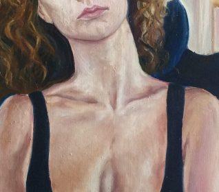 Двойной портрет маслом на холсте, масляная живопись