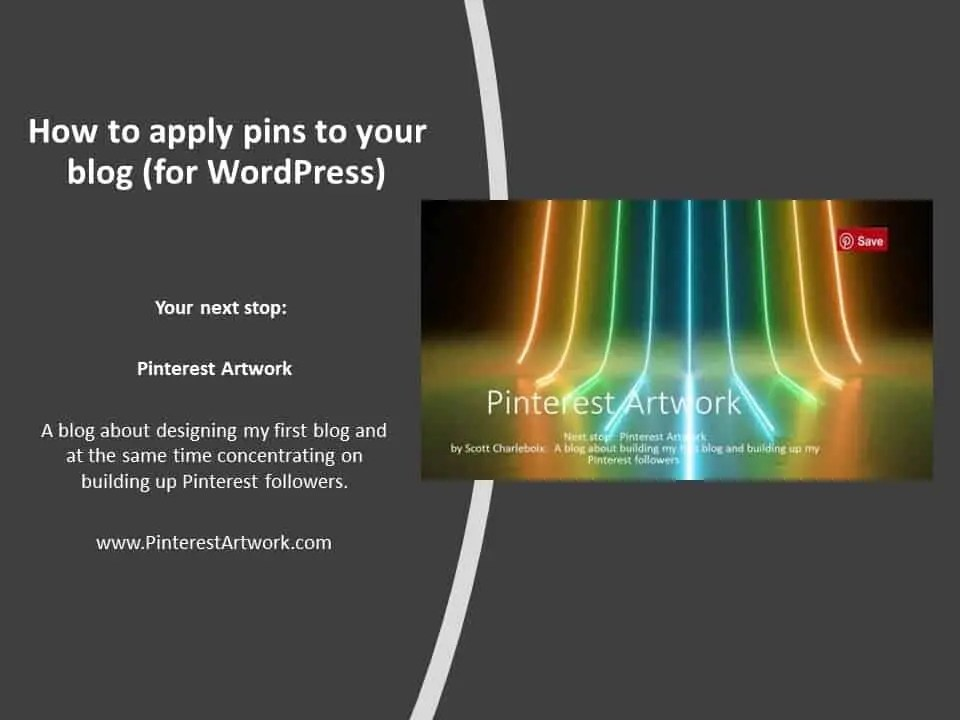 How to apply pins to your blog for WordPress A blog for the love of Pinterest