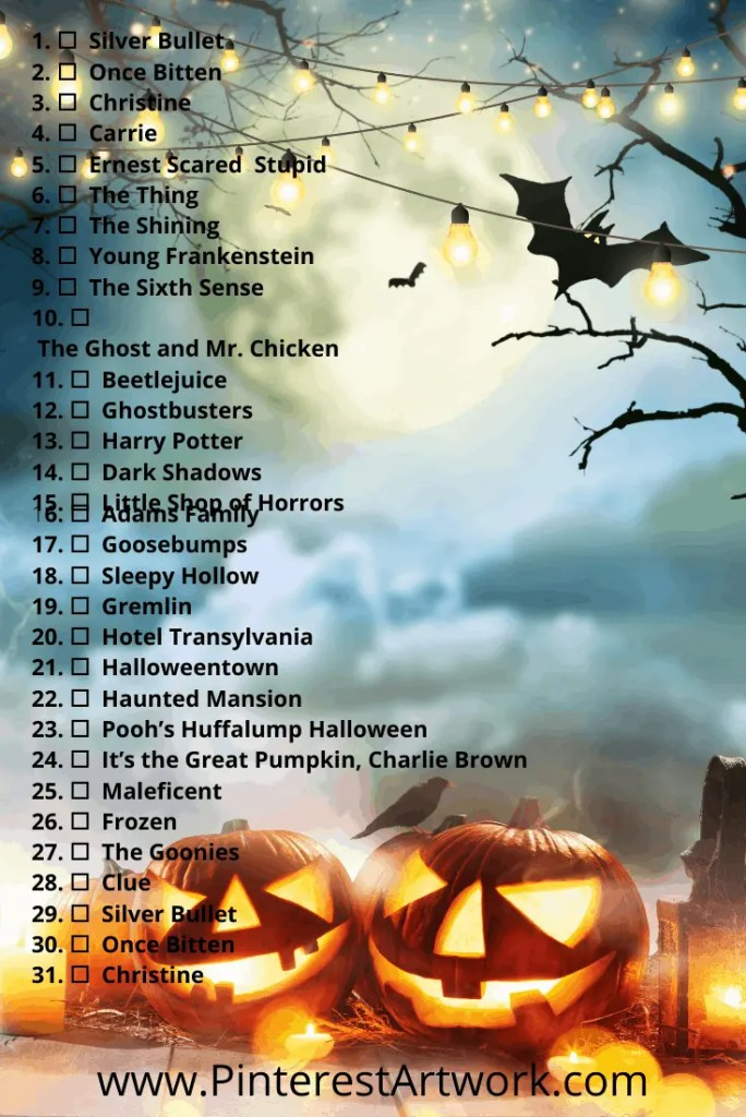 Blogtober Halloween Movie pins 4 A blog for the love of Pinterest