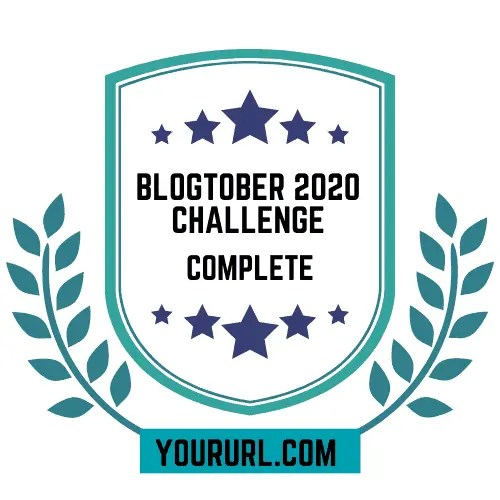 Blogtober Badge 2020 Completed 3 A blog for the love of Pinterest