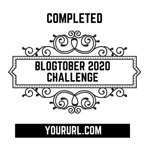 Blogtober Badge 2020 Completed 6 A blog for the love of Pinterest