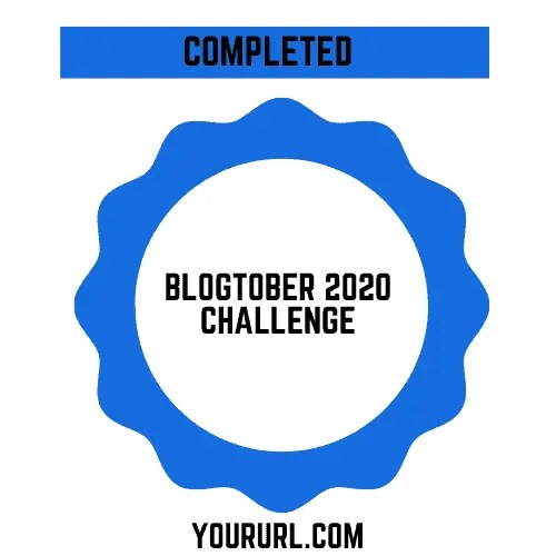 Blogtober Badge 2020 Completed 9 A blog for the love of Pinterest