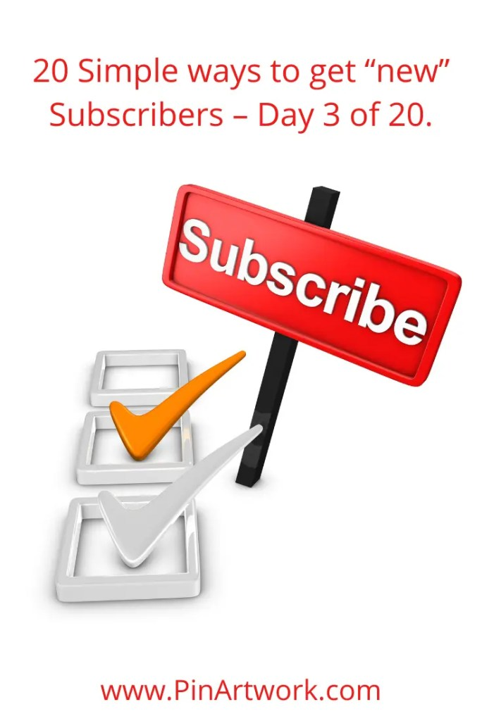 20 simple ways to get new subscribers 4 A blog for the love of Pinterest
