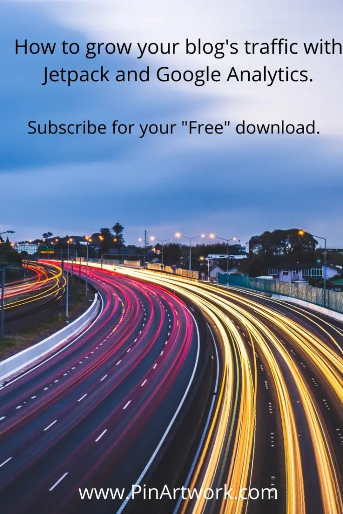 How to grow your blog's traffic with Jetpack and Google Analytics - subscribe for your free download