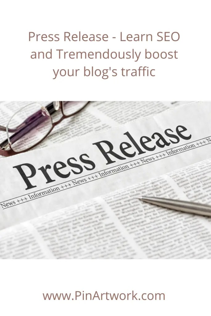 Press release learn SEO 4 A blog for the love of Pinterest