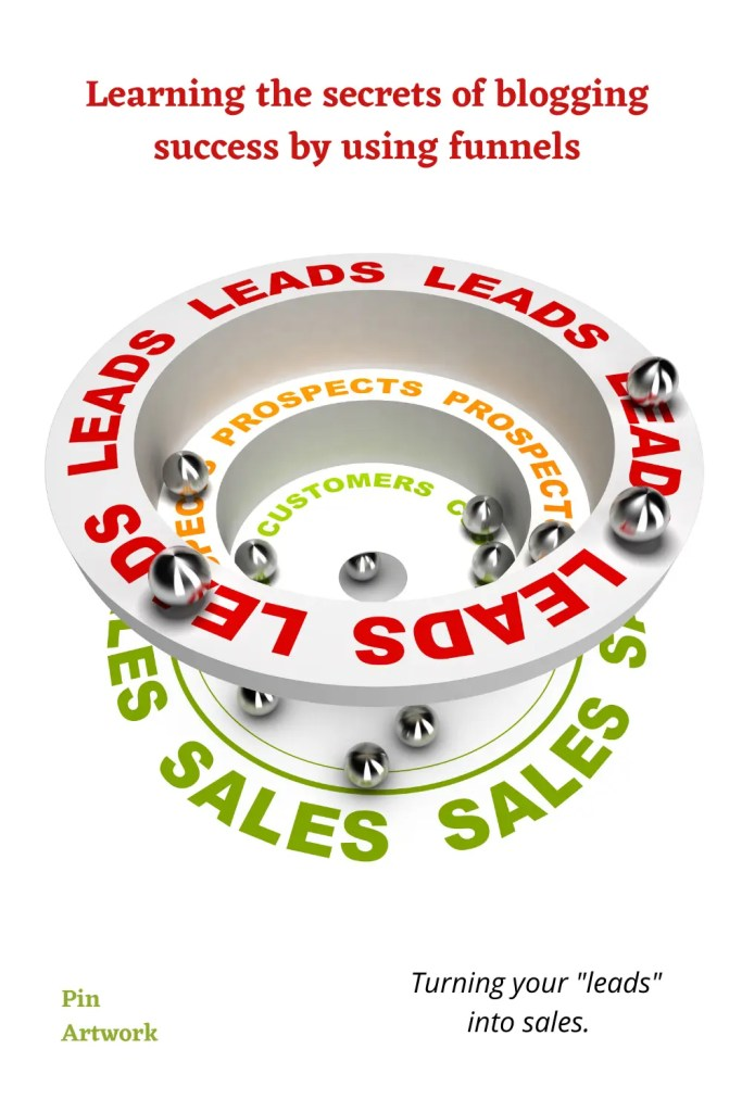 Learning the secrets of blogging success by using funnels.  Turning leads into sales.