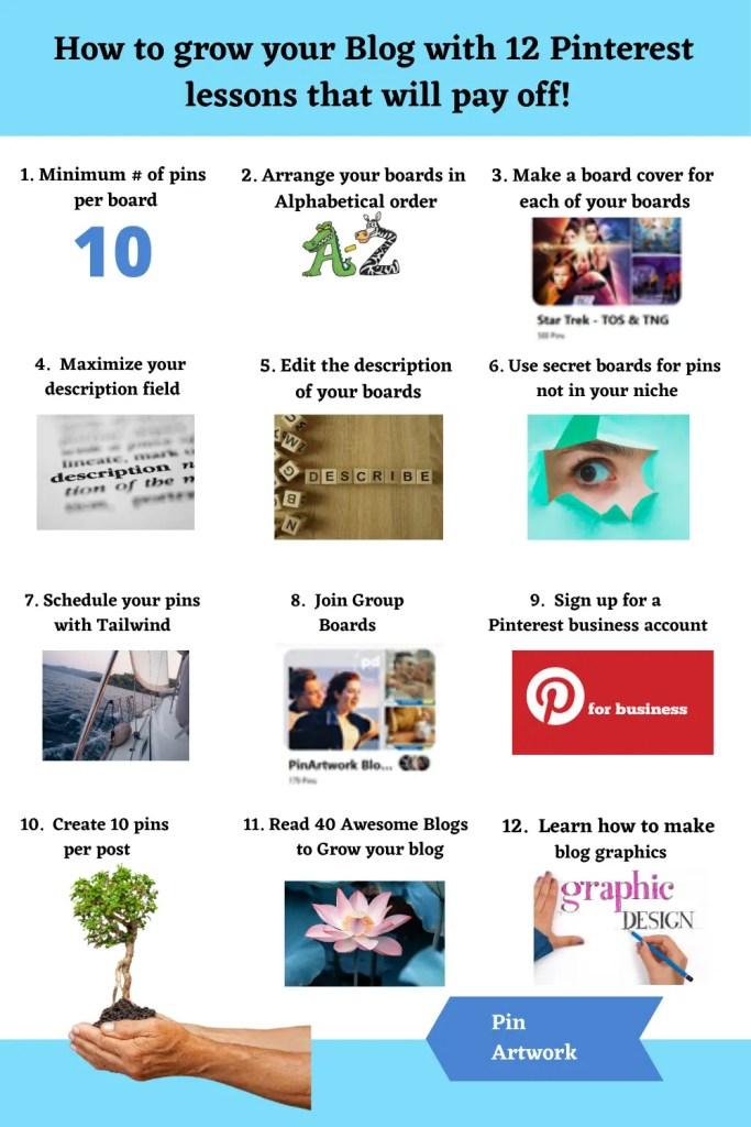 How to Grow your Blog with 12 Pinterest Lessons that will pay off