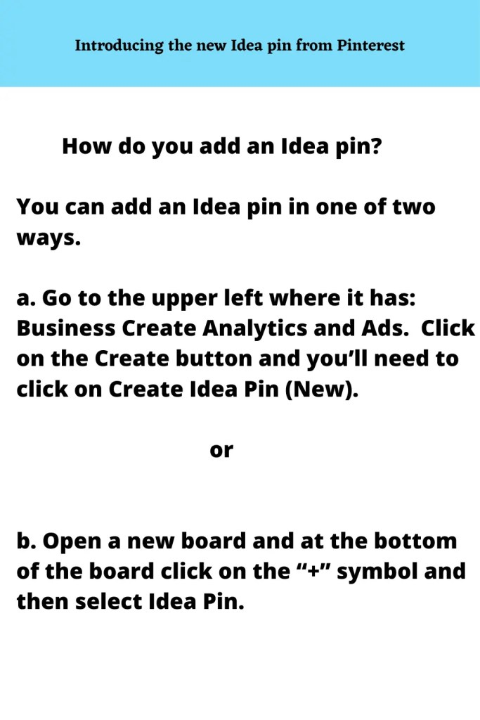 How to make an IDEA pin in Pinterest