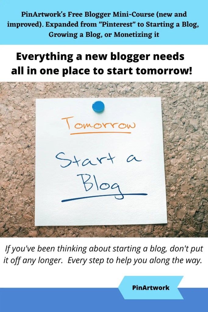 PinArtworks free blogging mini course 5 A blog for the love of Pinterest
