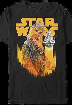 chewbacca and millennium falcon solo star wars t shirt.master A blog for the love of Pinterest