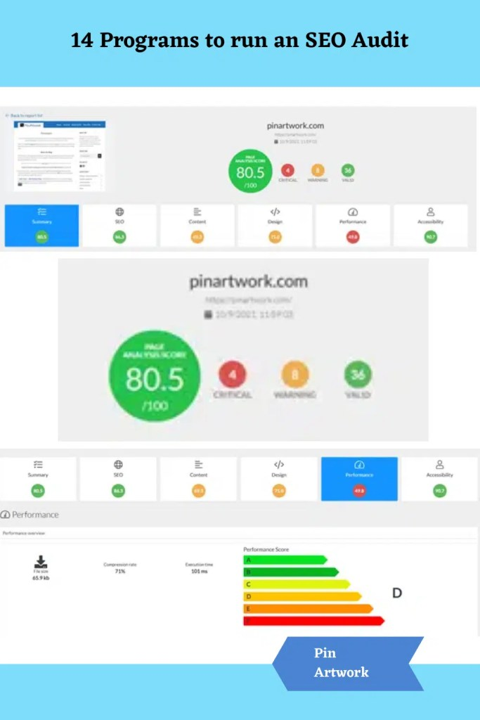 14 Programs to run an SEO Audit 11 A blog for the love of Pinterest