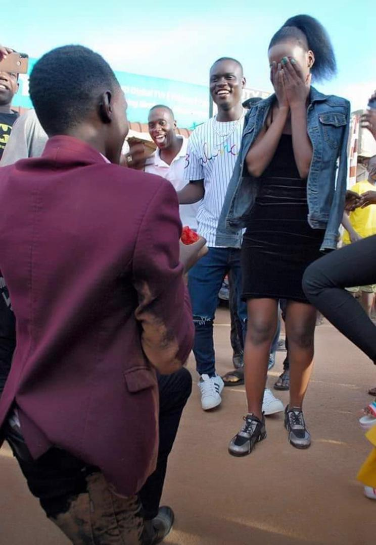 Photos: Young Man Rolls Himself On The Ground As He Proposes To His Beloved Girlfriend 4