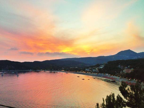 Sunset at Valtos Beach, Parga.