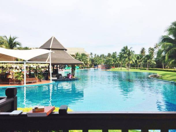 The massive pool of Sofitel Phokeethra Krabi Golf and Spa Resort