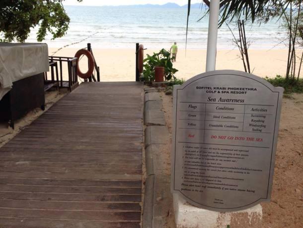 The beach near Sofitel Phokeethra Krabi Golf and Spa Resort