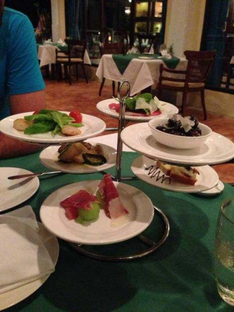 Appetizers at Venezia Restaurant in Sofitel Phokeethra Krabi Golf and Spa Resort