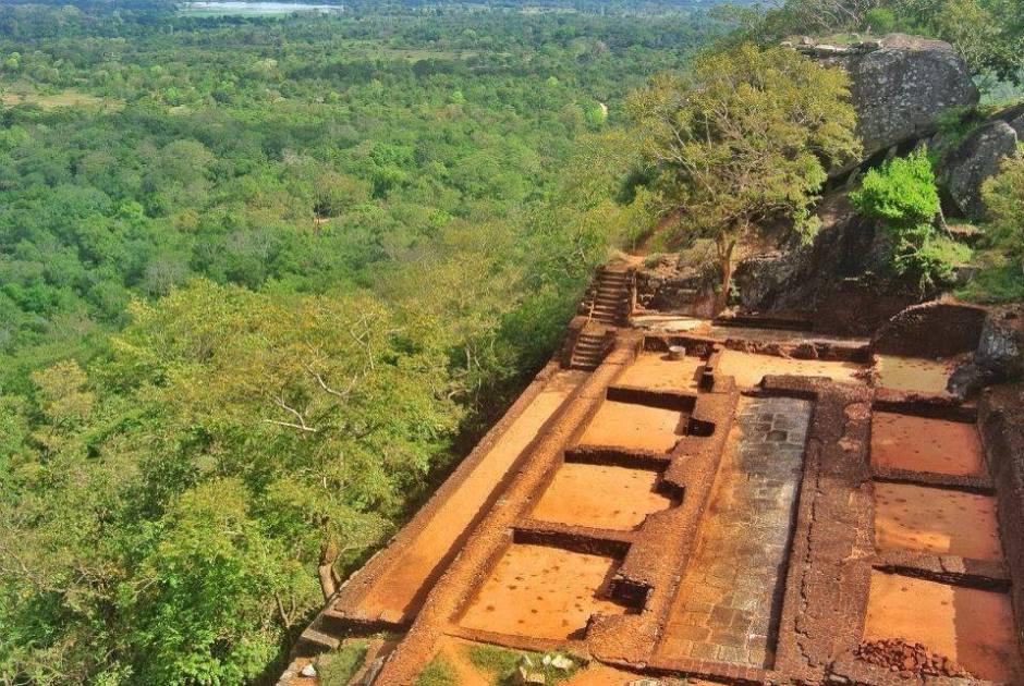 Ruins at Sigiriya Rock Fortress