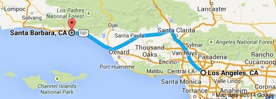 LA to Santa Barbara