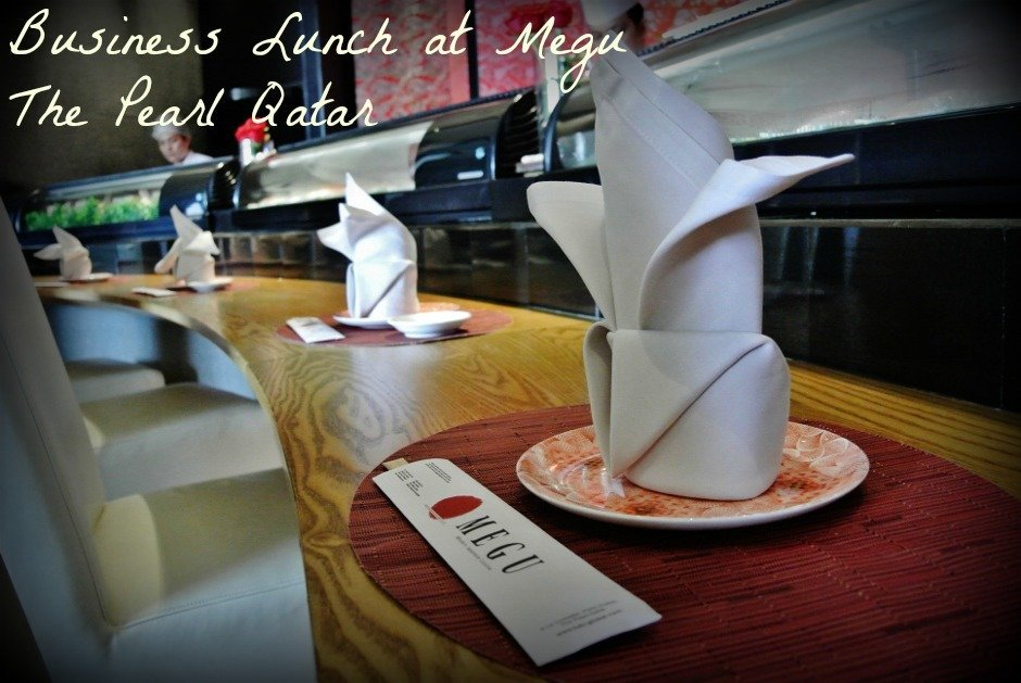 Business Lunch at Megu, The Pearl Qatar