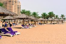 Pool and beach access Intercontinental Doha PinayFlyingHigh.com-2