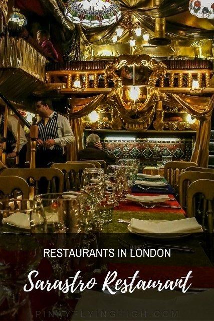 Restaurants in London, Sarastro Restaurant