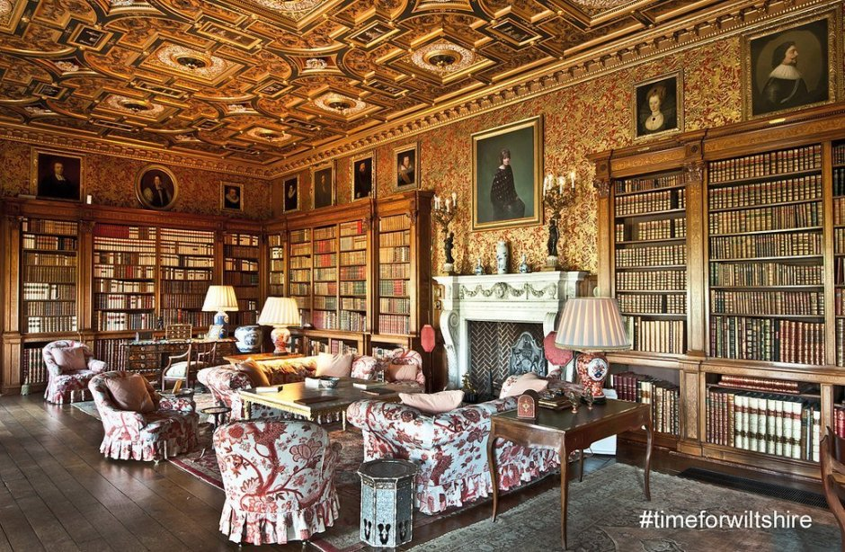 One of the grand rooms inside Longleat House.