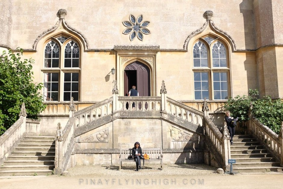 The grand entrance of Lacock Abbey.
